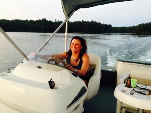 Sarah Driving Pontoon